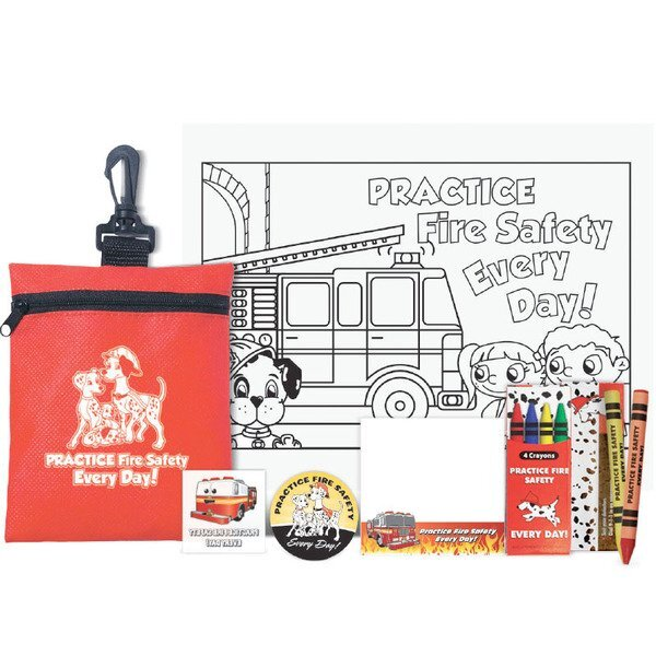 Practice Fire Safety Every Day Deluxe Zippered Clip Pouch Kit, Stock