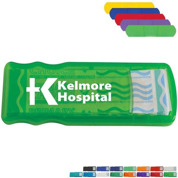 Slim Bandage Dispenser with Colored Bandages
