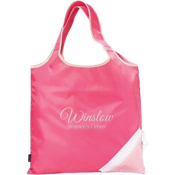 Pink Foldaway Shopper