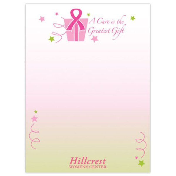"A Cure is the Greatest Gift - 4"" x 6"", 25 Sheet Sticky Pad"