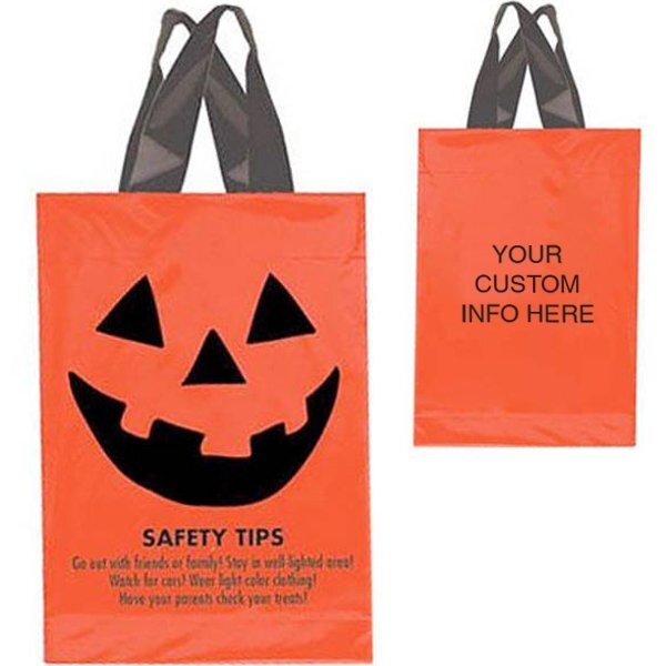 "Halloween Plastic Soft Loop Handle Bag, 10"" x 15"""