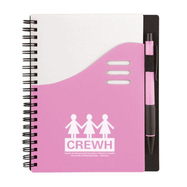 "Pink Color Wave Notebook, 5-1/2"" x 7"""