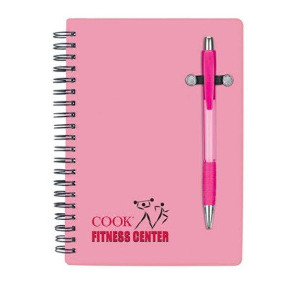 """Pink Pen Buddy Notebook, 5"""" x 7"""""""
