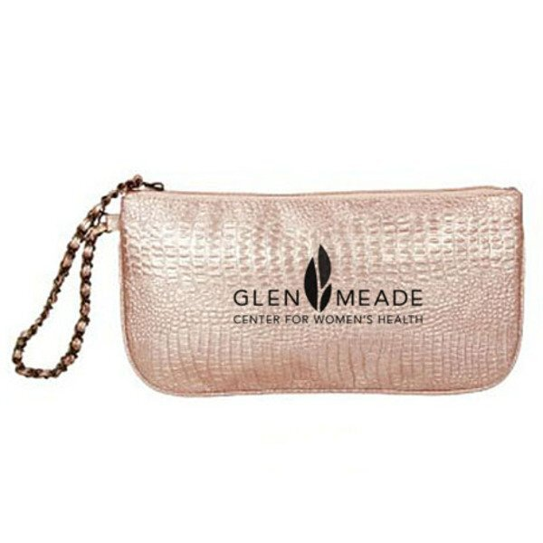 Pink Clutch Purse with Wristlet