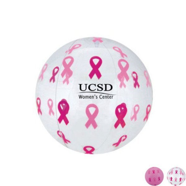 Pink Ribbon Beach Ball, 16""