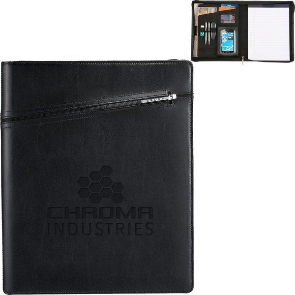 Cross® Zippered Leather Padfolio and Pen Bundle Set