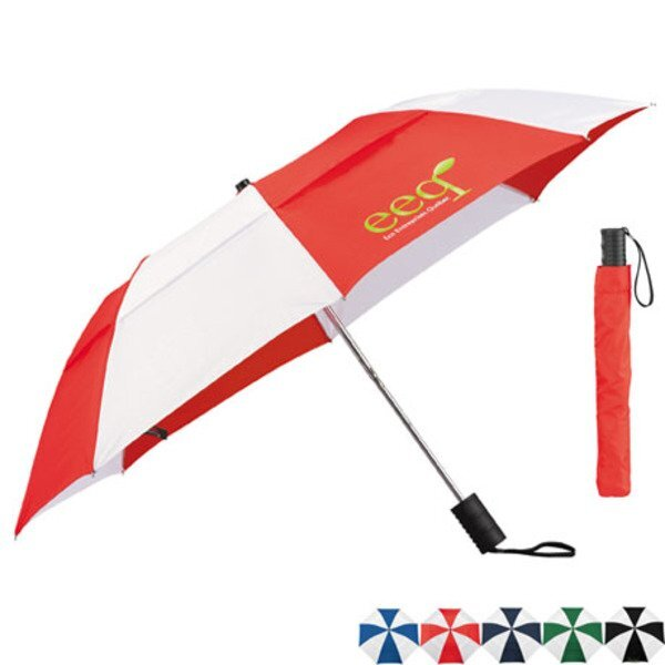 "Vented Auto Open Windproof Slim Stick Umbrella, 42"" Arc"