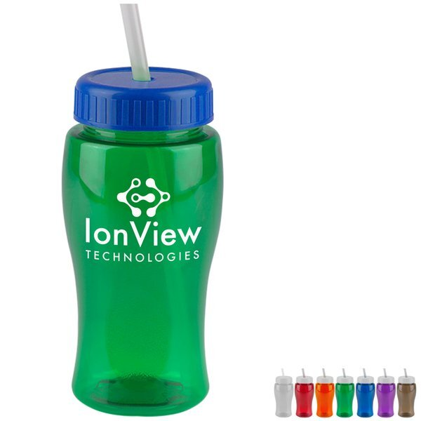 Mini Transparent Sports Bottle, 18oz. - Straw Lid