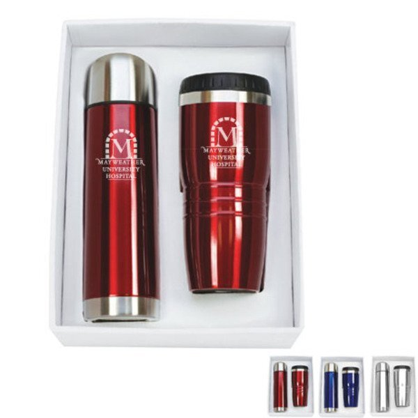 Delta Stainless Steel Tumbler & Thermos Set