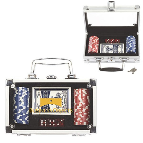 Poker Set in Aluminum Case w/ 50 Chips