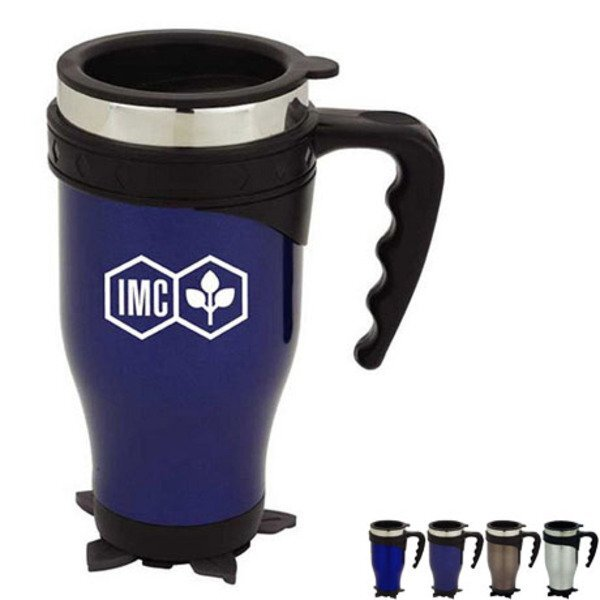 Stabilizing Stainless Travel Mug, 19oz.