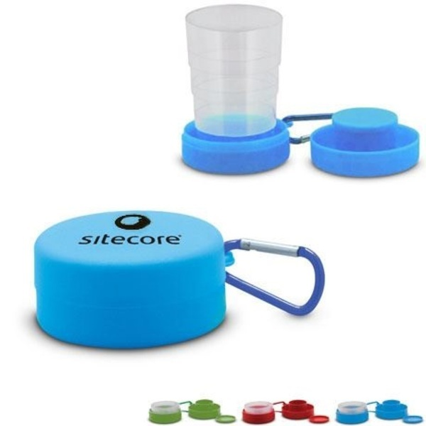 Travel Pop-Up Cup with Pillbox, 6oz.