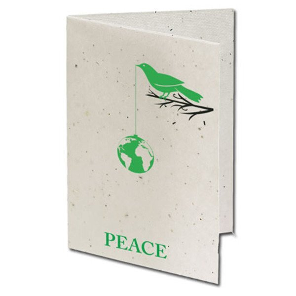 Peace Seeded Paper Holiday Card