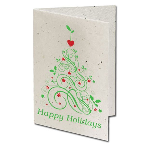 Happy Holidays Seeded Paper Holiday Card