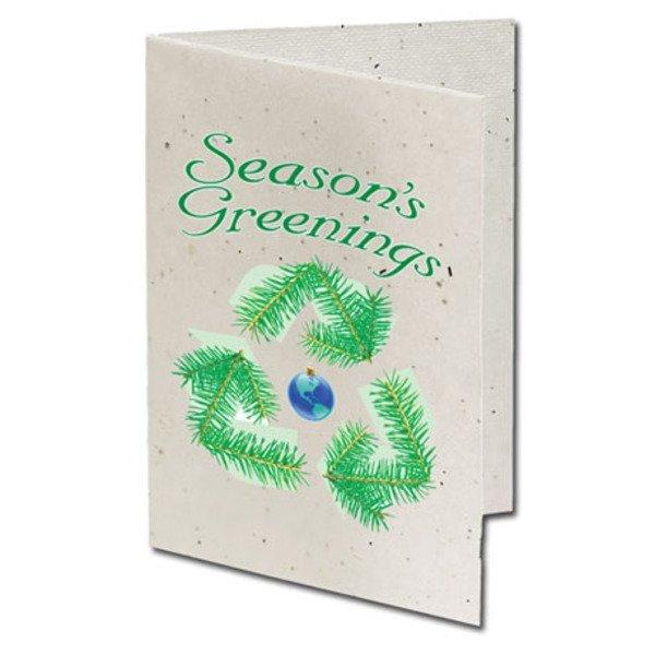 Season's Greenings Recycle Seeded Paper Holiday Card