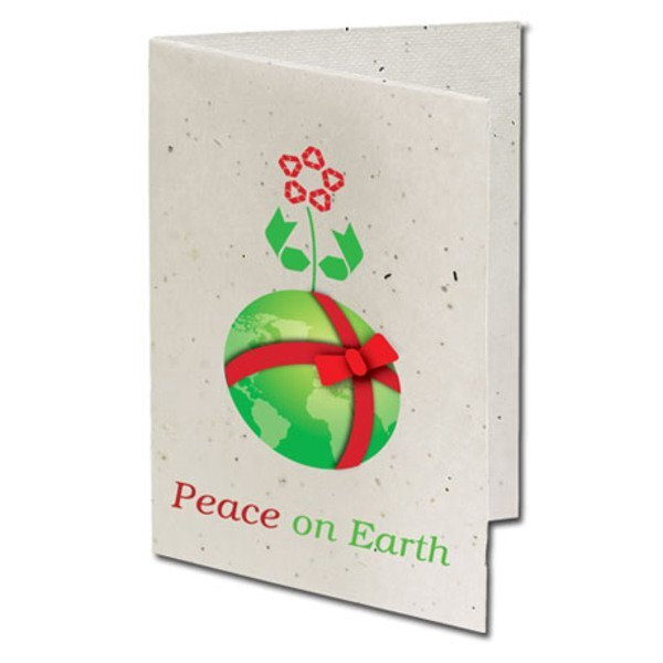 Peace on Earth Seeded Paper Holiday Card