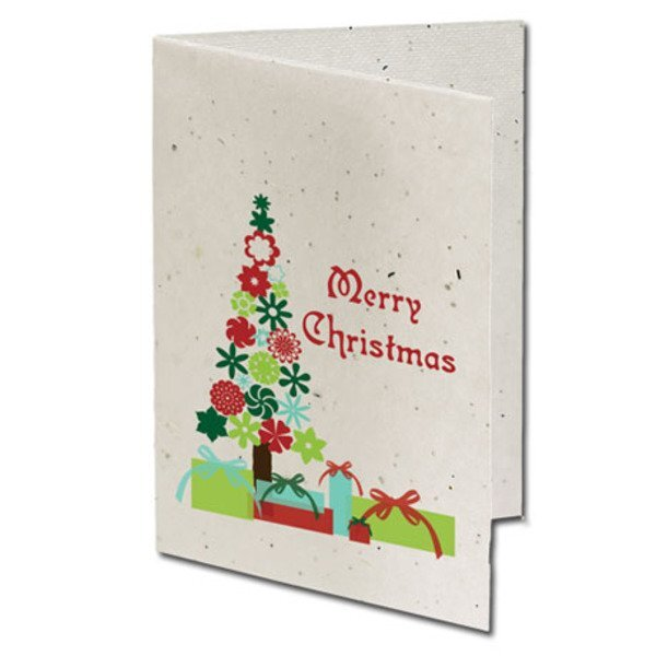 Merry Christmas Seeded Paper Holiday Card