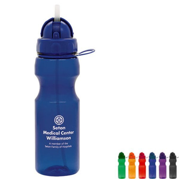 Seal Plastic Dome Water Bottle, 22oz.