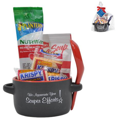 "Appreciation Soup to Nuts Mug Gift Set, ""We Appreciate Your Souper Efforts!"" Design, Stock"