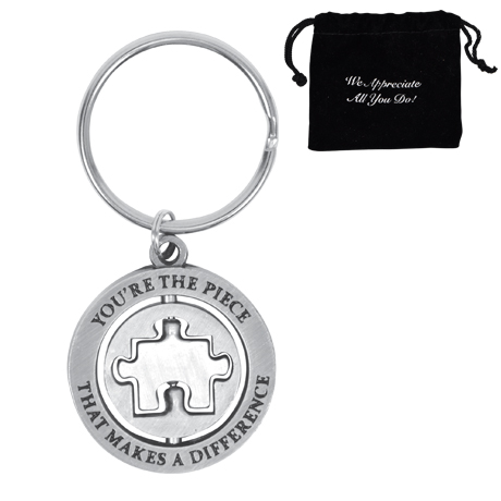 You're the Piece That Makes a Difference, Appreciation Swivel Keychain, Stock