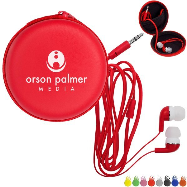 Colorful Premium Ear Buds w/ Round Case