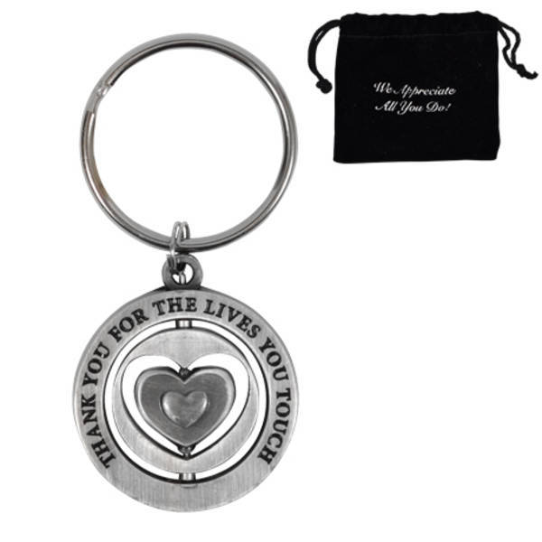 Thank You for the Lives You Touch, Appreciation Swivel Keychain, Stock