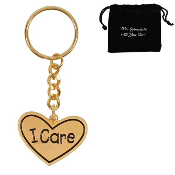 I Care, Appreciation Keychain, Stock