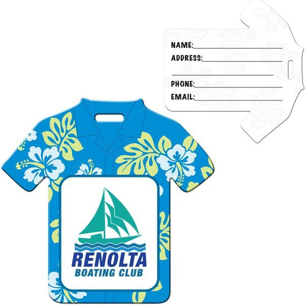 Hawaiian Shirt Die Cut Luggage Tag