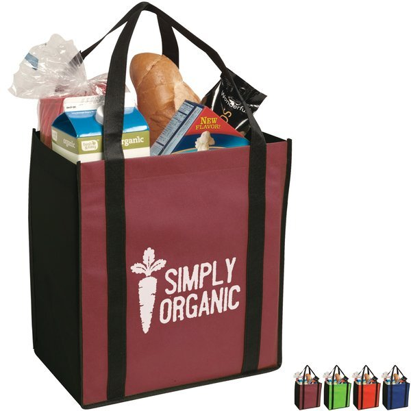 Non-Woven Two Tone Grocery Tote
