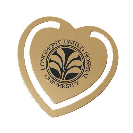 Heart Bookmark - Solid Brass