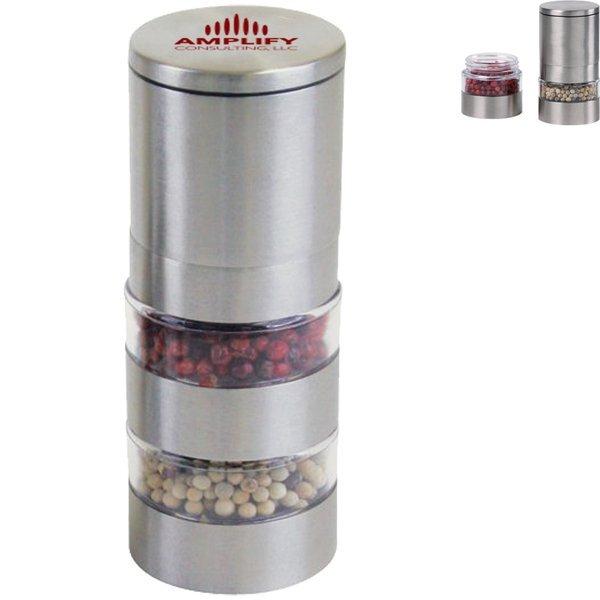 Stainless Steel Salt & Pepper Mill Set