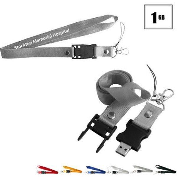 Tulsa USB Flash Drive Lanyard, 1GB