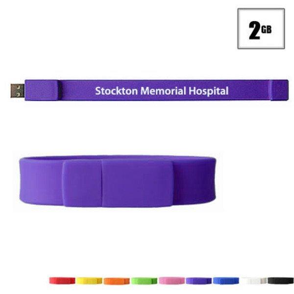 Union USB Flash Drive Bracelet, 2GB