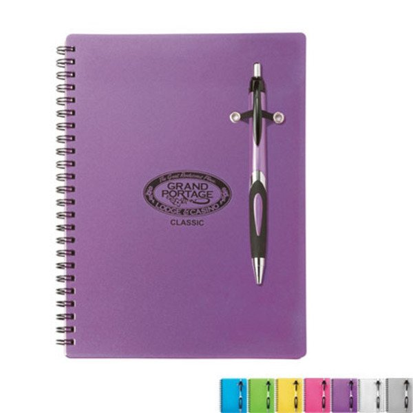 "Nadir Notebook & Pen Set, 6-1/4"" x 8-1/2"""