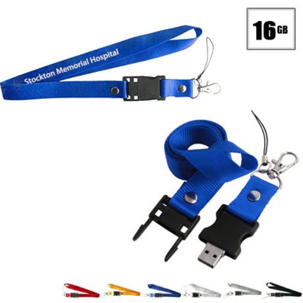 Tulsa USB Flash Drive Lanyard, 16GB