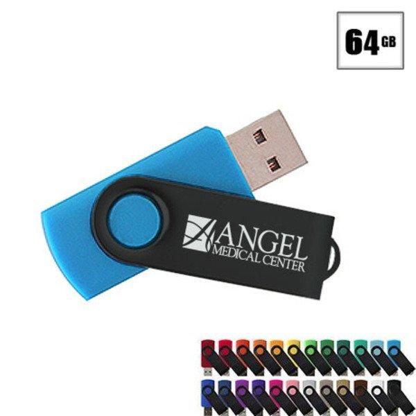 MVP Black USB Flash Drive, 64GB