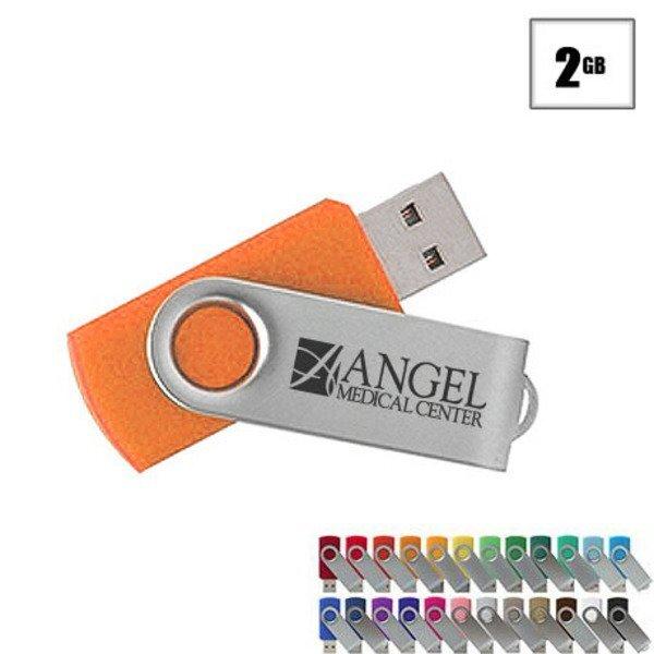 MVP Silver USB Flash Drive, 2GB