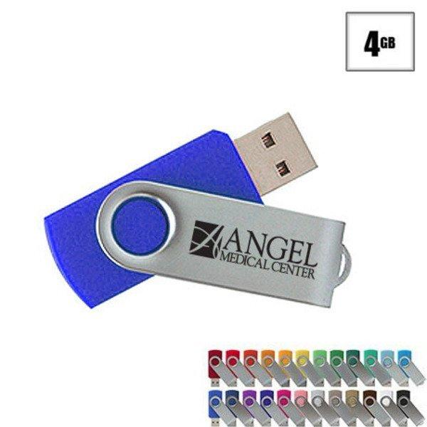 MVP Silver USB Flash Drive, 4GB