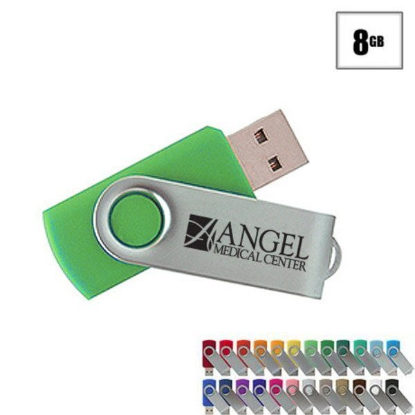 MVP Silver USB Flash Drive, 8GB