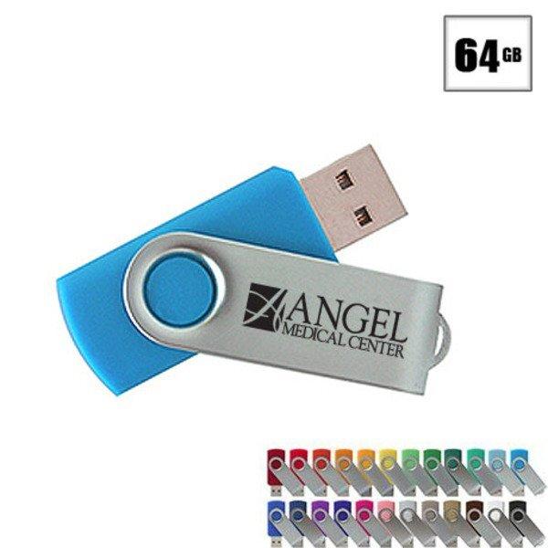 MVP Silver USB Flash Drive, 64GB