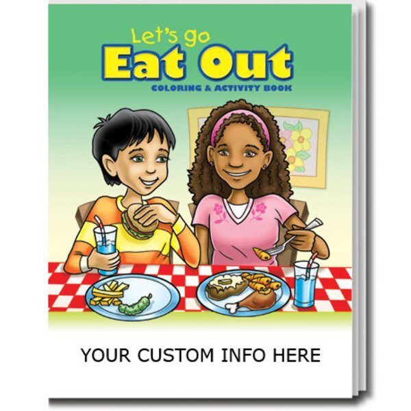 Lets Go Eat Out Coloring & Activity Book