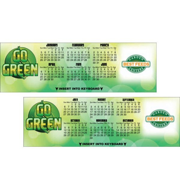 Go Green Keyboard Calendar