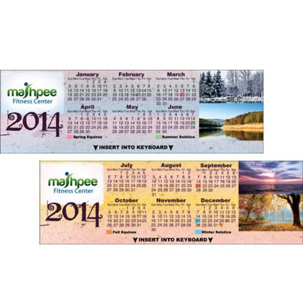 Nature Landscapes Keyboard Calendar