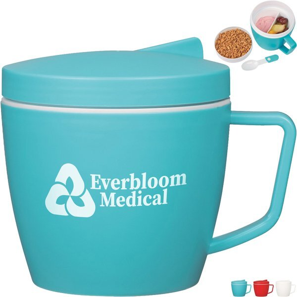Thermal Mug w/ Spoon & Fork Set, 14 oz.