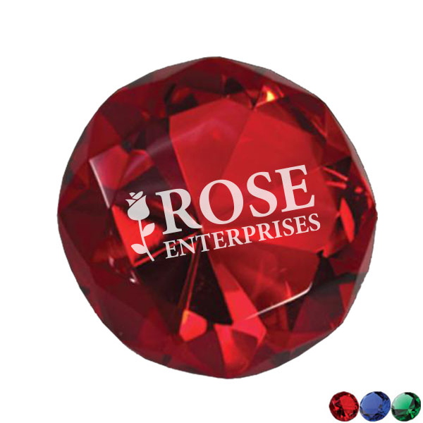 Crystal Colored Diamond Paperweight