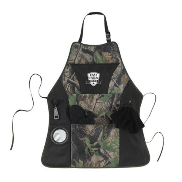 Grill Master Camo Apron Kit with Mitt, Towel & Opener