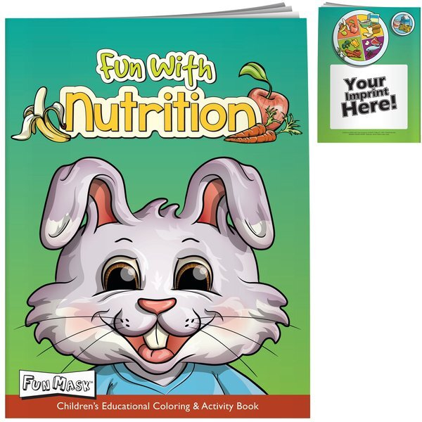 Food and Nutrition Coloring Book with Mask
