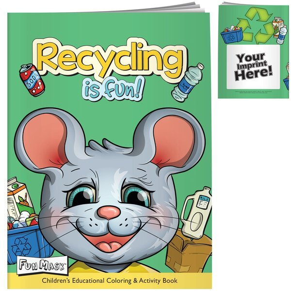 Recycling Fun Coloring Book with Mask