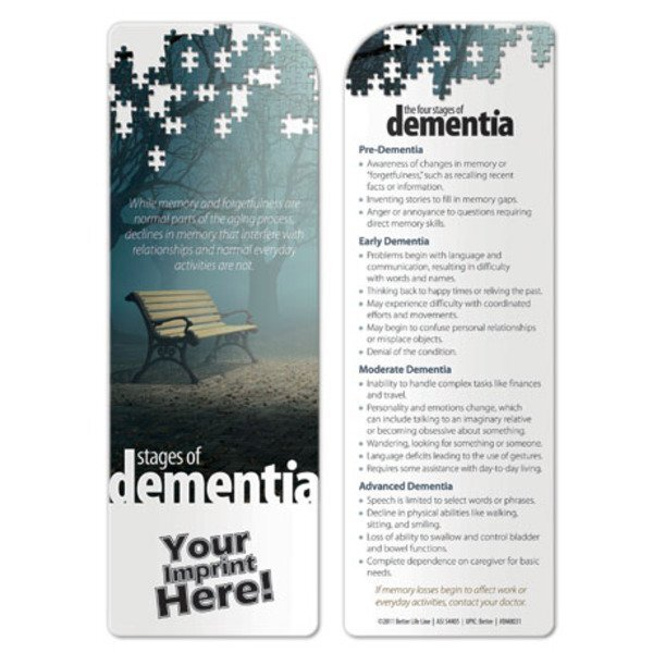 Stages of Dementia Bookmark