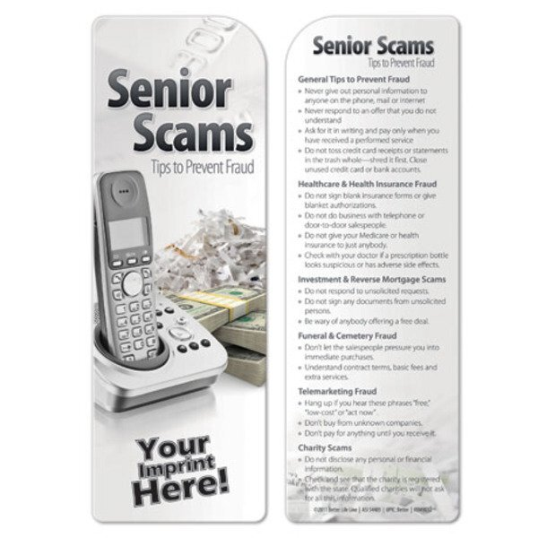 Senior Scams Bookmark